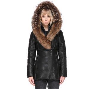 Mackage Ingrid leather down jacket